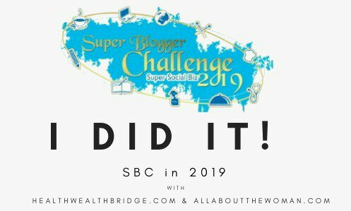 Super Blogger Challenge badge